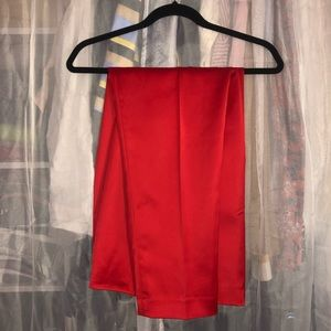 Red Satin Dress Pants
